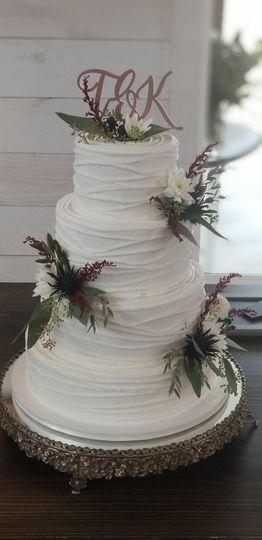 Simple Stacked Wedding Cake
