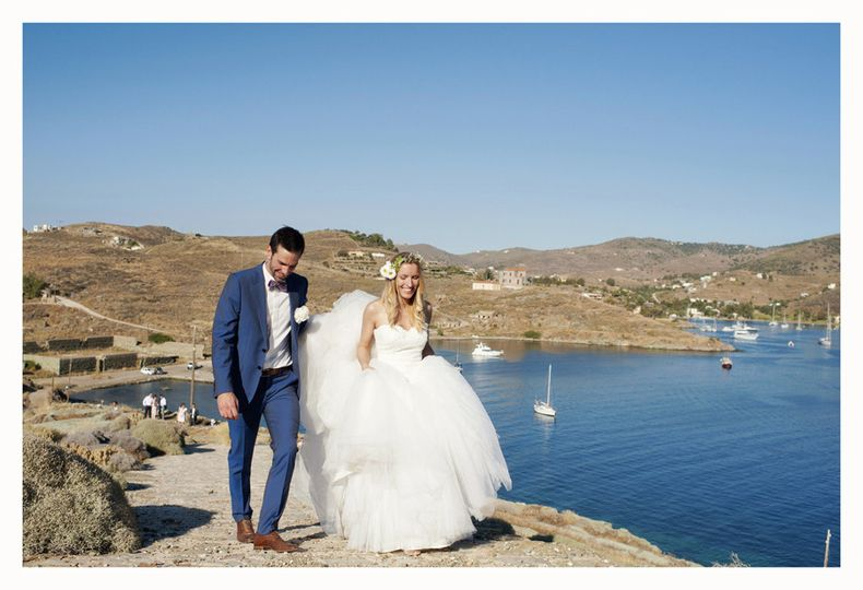 happy wedding in greek islands