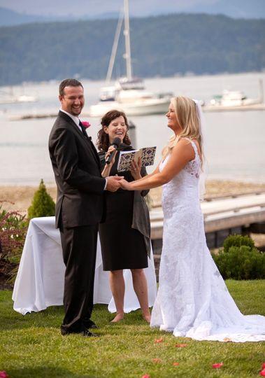 Ceremony overlooking the water
