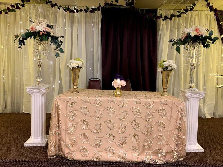 Wedding Reception-Head Table