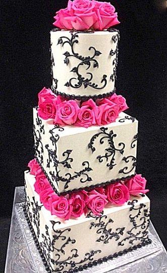 wedding black white floating roses