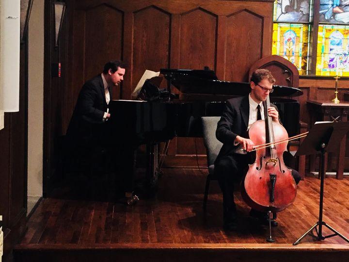 A cello player
