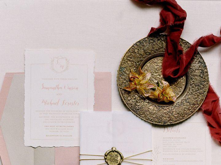 Tmx 1535574952 1bd747594c07fe45 1535574950 91fffafbcb0c871f 1535574948944 6 VellumGateBlushCha Burleson, Texas wedding invitation