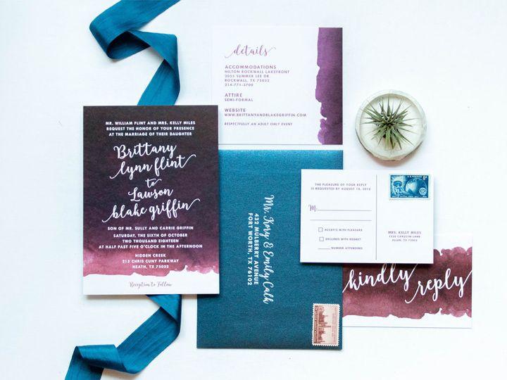 Tmx 1538094827 817f52d60b78e549 1538094825 37a4f94083e14ec3 1538094824628 1 BurgundyBlushWater Burleson, Texas wedding invitation