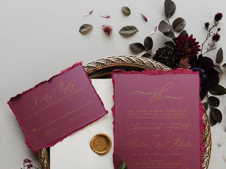 Tmx 2018 11 30 Plum Styled Shoot Jacque Manaugh 16 Web 51 623329 Burleson, Texas wedding invitation