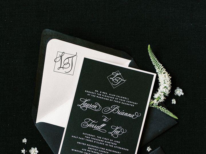 Tmx Blackfoilstampinvitationsuite 51 623329 161782505526274 Burleson, Texas wedding invitation
