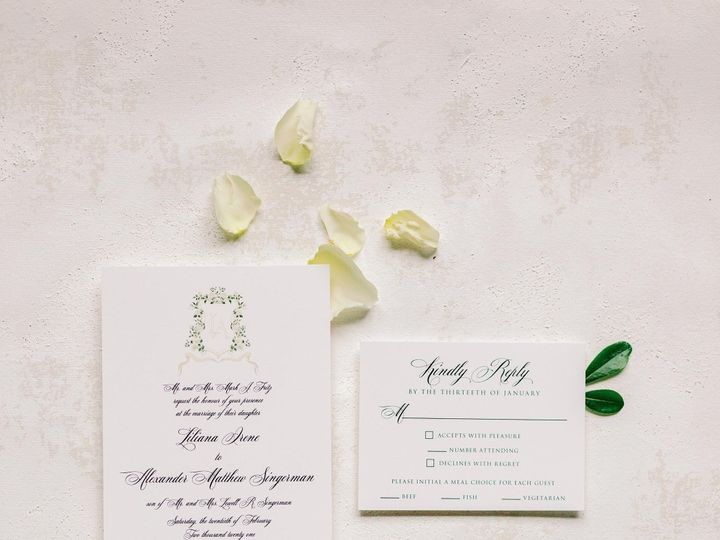Tmx Brown Fox Creative 21 1 24 Elegant Custom Crest Monogram Wedding Invitation Kelsey Lanae Photography 1 51 623329 161455458092521 Burleson, Texas wedding invitation
