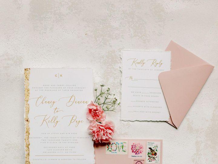 Tmx Brown Fox Creative 21 1 24 Pink And Gold Wedding Invitation Kelsey Lanae Photography 2 51 623329 161455458056978 Burleson, Texas wedding invitation