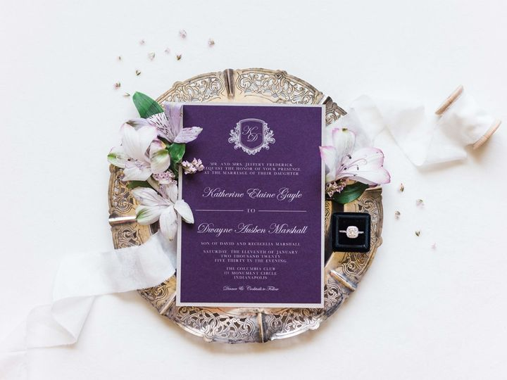 Tmx Formalcrest Purplesilver Invitation1 51 623329 1570911664 Burleson, Texas wedding invitation