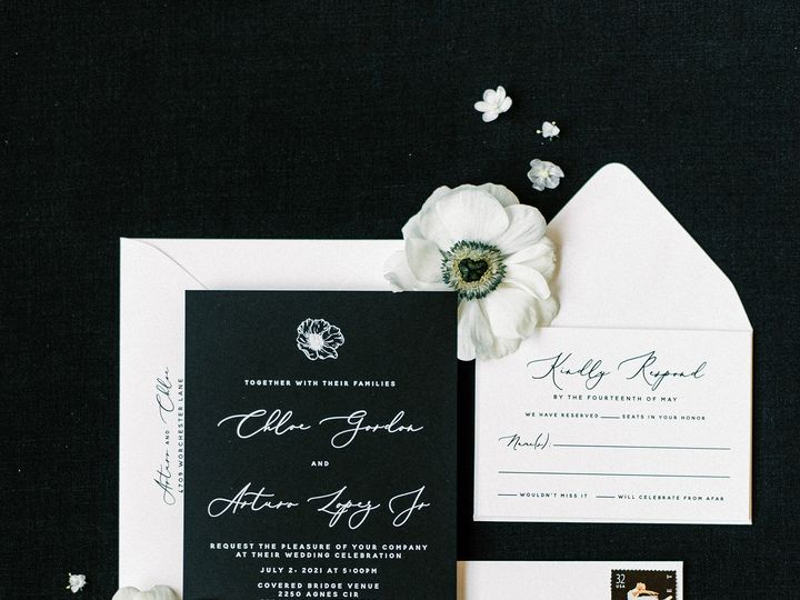 Tmx Modernblackandwhitefloralinvitaiton 51 623329 161782515915617 Burleson, Texas wedding invitation