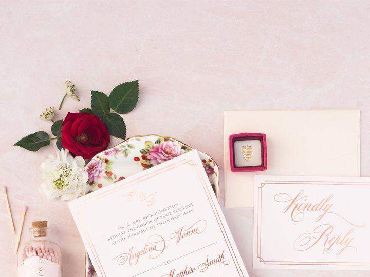 Tmx Rosegoldfoilelegantsimpleframe 51 623329 Burleson, Texas wedding invitation