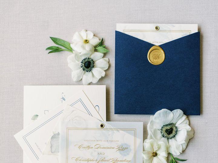 Tmx Swivelpocketinvitationinnavyandgold 51 623329 161782519523251 Burleson, Texas wedding invitation