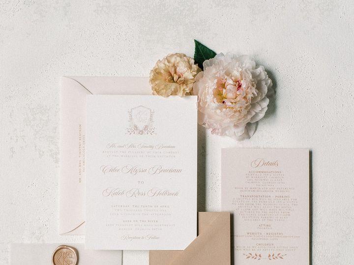 Tmx Threeinitialcrestmonograminblush 51 623329 161782519530119 Burleson, Texas wedding invitation
