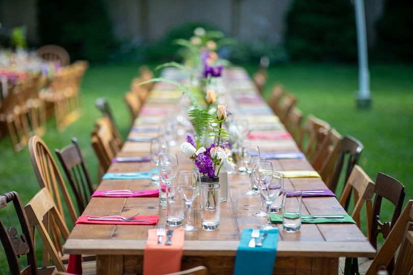 Colorful Garden Table