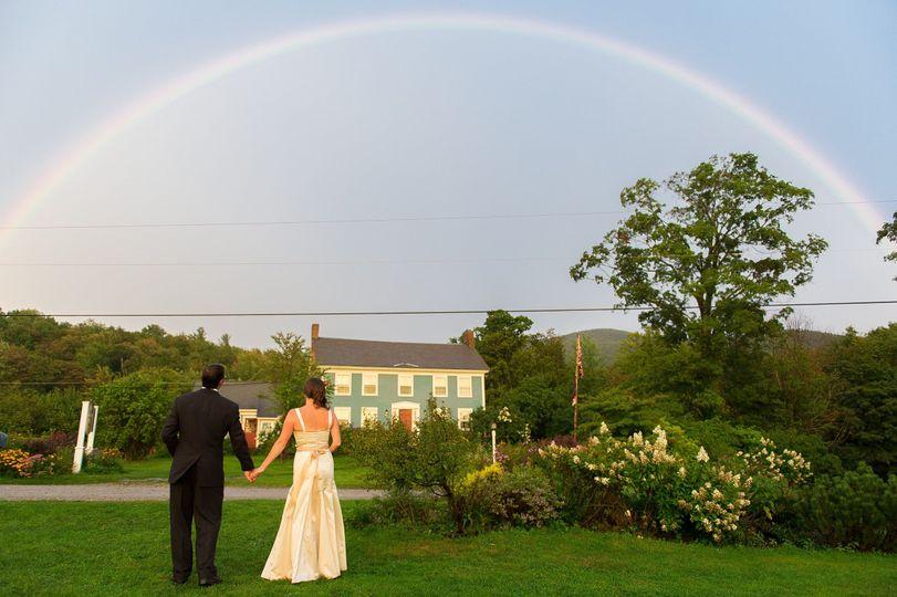 Rainbow over the venue