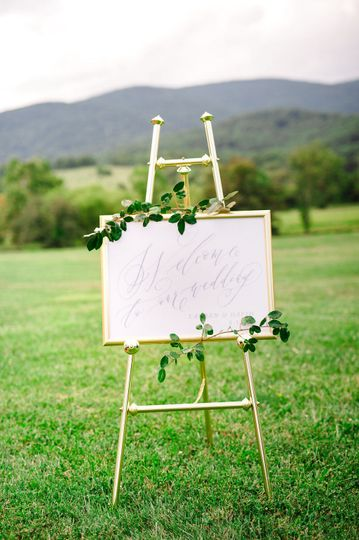 Welcome to our wedding sign:...