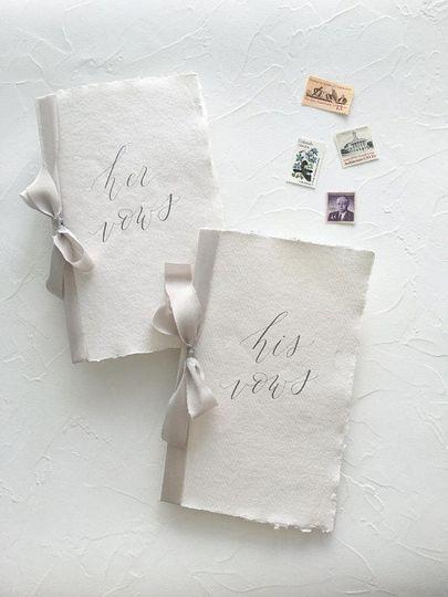 Handmade Paper Vow Books:...
