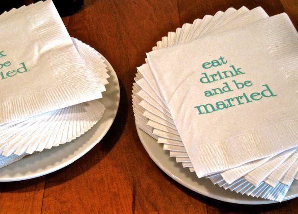 Table napkins with print