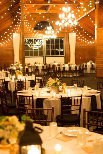 Cozy wedding reception area