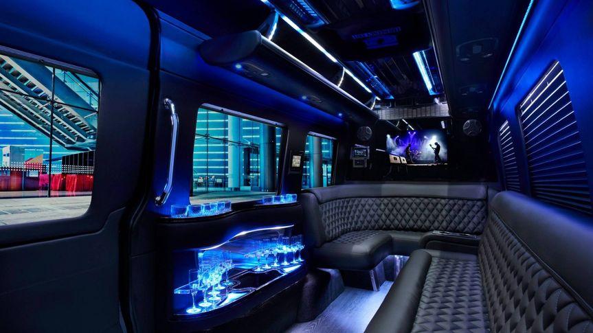 Inside a limo