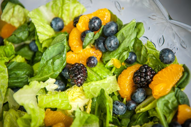 Salad with berries