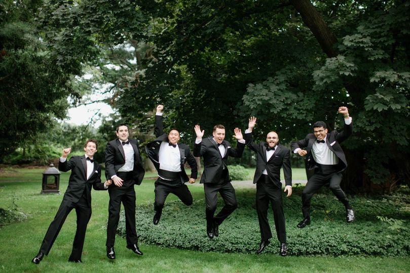 Groomsmen and groom party