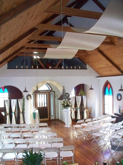 Main Dining Room set for a 100 person ceremony