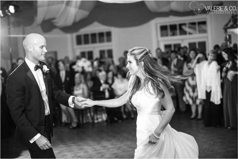 Sally and Rob's first dance
