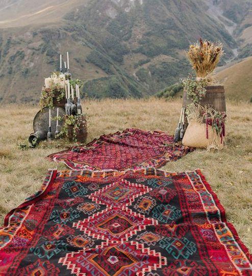 Boho chic rugs