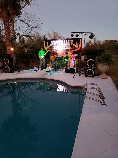 Poolside performance