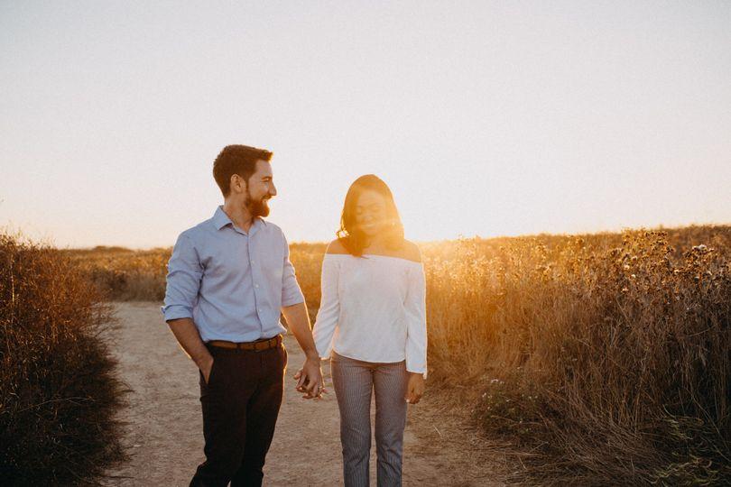 Engagement session sunset