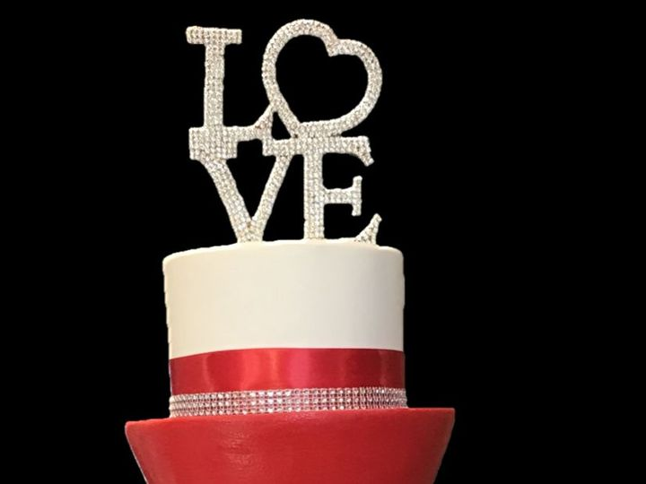 Tmx 1521647797 9d03d9244074bed9 1521647796 C3d1bc57202827a5 1521647791245 4 Red Cake3 Lincoln University wedding cake