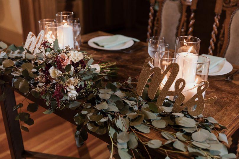 Sweetheart Table Set Up