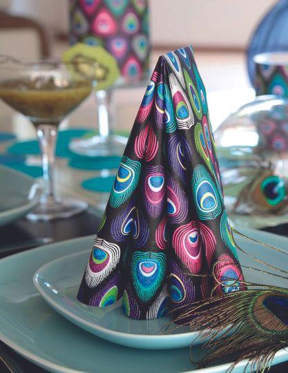 Peacock paper napkins