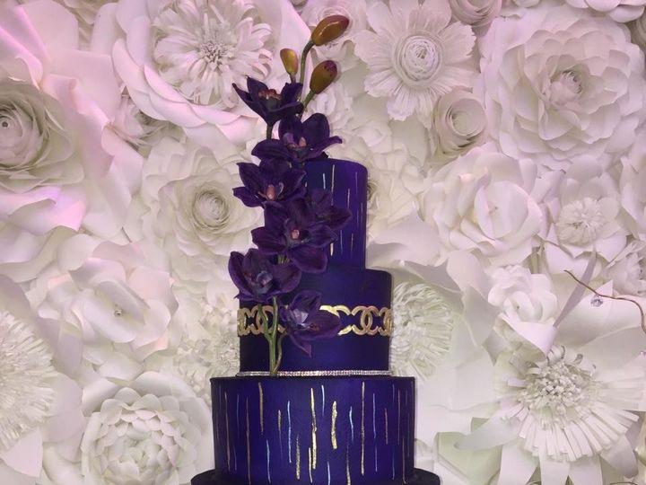 Tmx 1459564271190 Img3413 Purple Wedding Cake Houston, Texas wedding cake