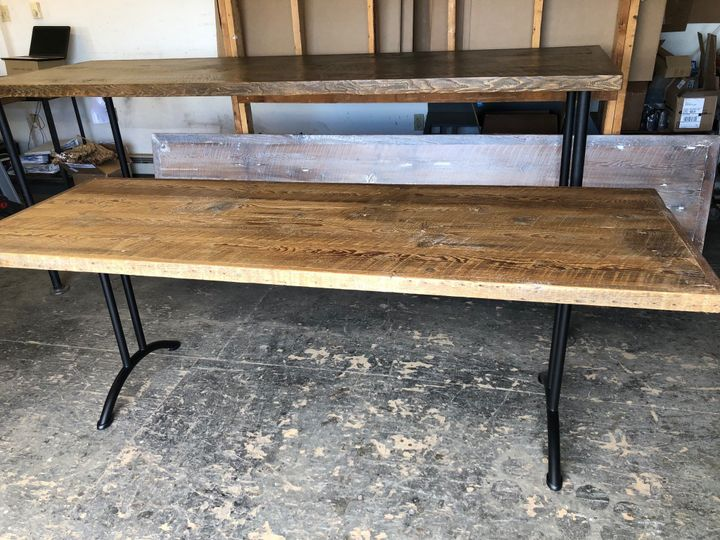 Large table with folding legs