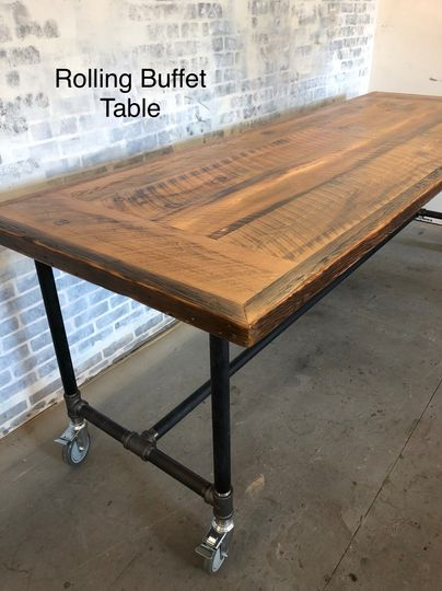 Rolling buffet table