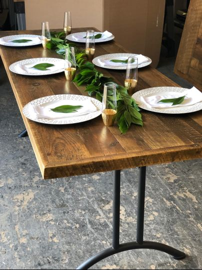 Dining table made from barn wood