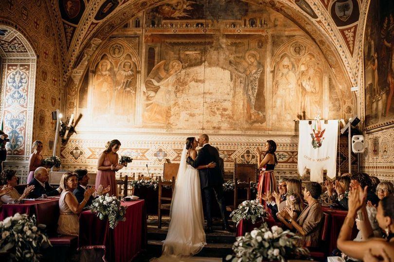 Civil wedding in Volterra