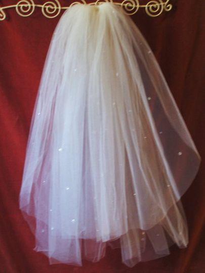 double layer comb veil