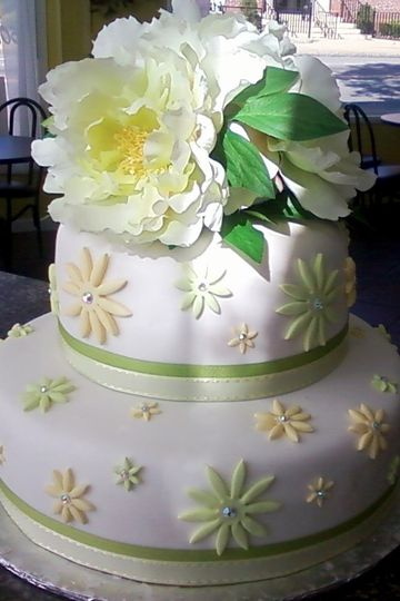 stacked bridal shower green yellow