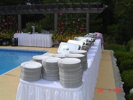 Pool side buffet