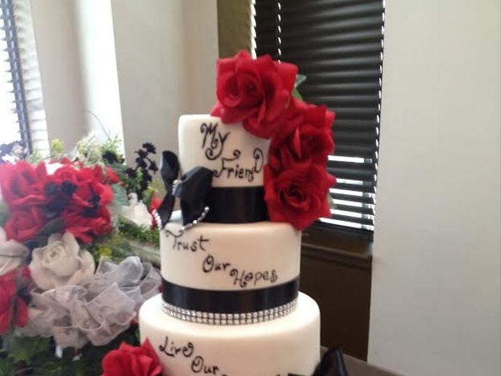 Tmx 1413816659232 Blooms Indianapolis wedding cake