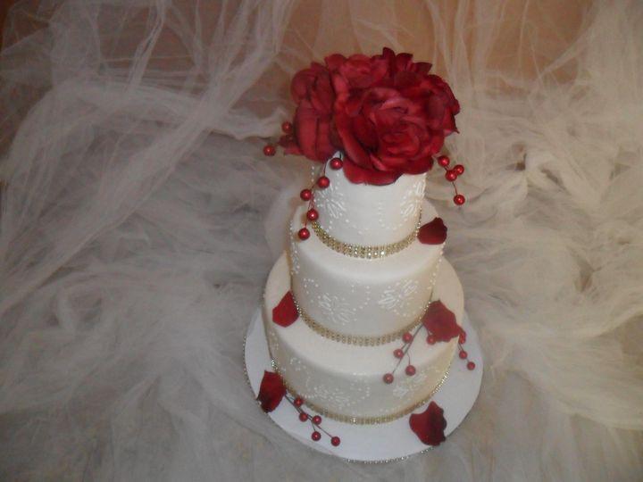 Tmx 1413816785994 Blooms666 Indianapolis wedding cake