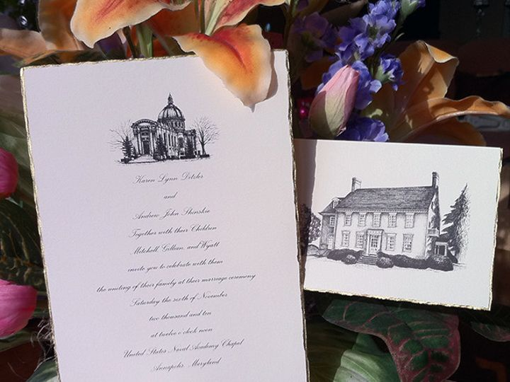 Tmx 1403059542354 Navyinvite72 Severna Park, Maryland wedding invitation