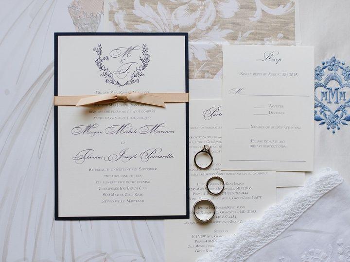 Tmx 1462378947945 Eastern Shore Wedding Chesapeake Bay Beach Club000 Severna Park, Maryland wedding invitation
