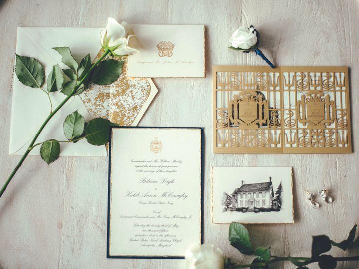 Tmx 1462379410181 Elegant Navy Wedding Inspiration Bow Ties And Bubb Severna Park, Maryland wedding invitation