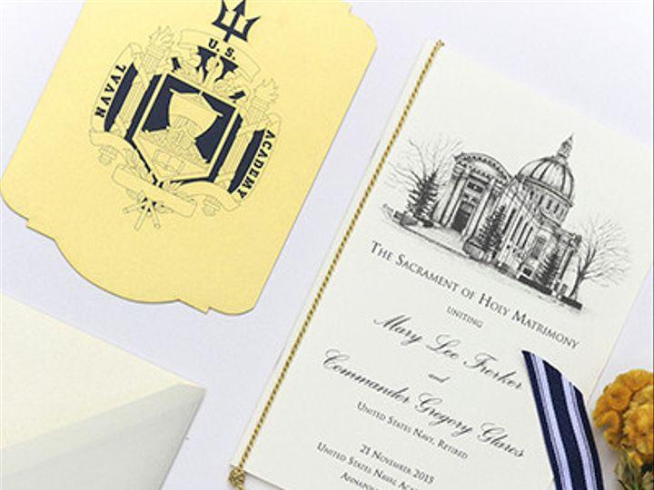Tmx 1484859278760 1x3a8445low Severna Park, Maryland wedding invitation