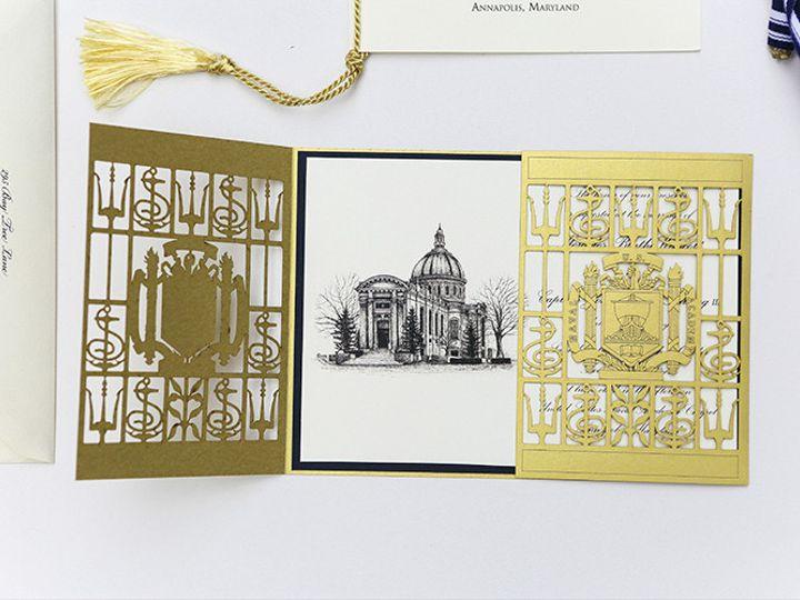 Tmx 1484859338963 1x3a8455low Severna Park, Maryland wedding invitation