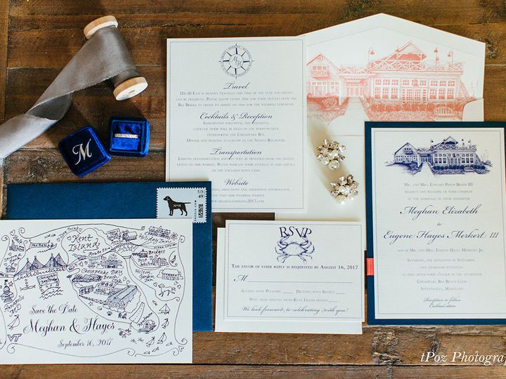 Tmx 1528911535 33a98afb289c80aa 1528911533 3f433d89dabe583a 1528911486661 3 M HWed TPoz Severna Park, Maryland wedding invitation